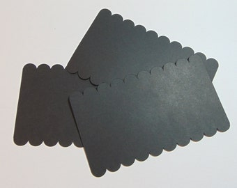 Scalloped Rectangle Die Cuts Set of 40