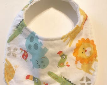 Handmade Animal Print Bib