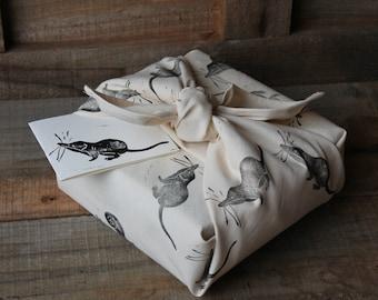 Animal Furoshiki Wrapping Cloth, Shrews and Snails