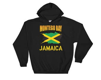 Montego Bay Jamaica Flag Jamaican Hooded Sweatshirt