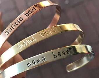 First Mothers day Gift Gift Basket for Mom Birthday Gift Mom Jewelry Mama Bear Jewelry Mama Bear Bracelet Gift for New Mom Gift Push Present