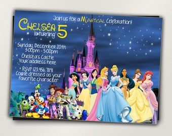 Disney invitations Etsy