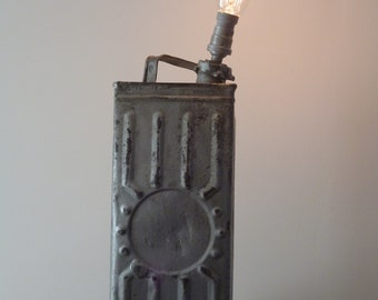 a fuel canister table lamp vintage