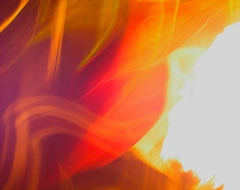Red Fire, Fine Art Abstract Photograph by DENISE SLOAN