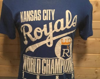 Vintage 1985 Kansas City Royals World Champions 50/50  T-Shirt