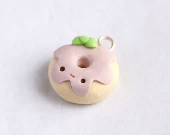 Cute donut charm, polymer clay charms, keychain charm, lanyard charm, polymer clay, doughnut charm, gifts for her, donut charm