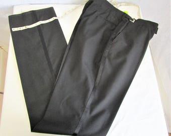"60s 44"" XL Tuxedo Pants Waist 41-44"" Deadstock NWT"