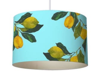 Fruit lampshade etsy mediterranean designer lampshade lemon lampshade ceiling lampshade mid century lampshade baby mozeypictures Image collections
