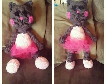 Crochet Stuffed Ballerina Cat