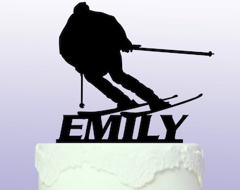 Personalised Skiing Cake Topper