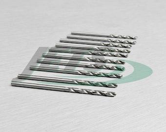 """1.8mm Twist Drill Metric HSS Jobber Drills 10 Pieces Bright Steel Bits - 0.70"""" (1E)"""