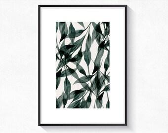 Botanical poster plant Botanical print wall art print printable Scandinavian art • • • •