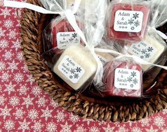 Snowflakes Christmas Wedding Favors Personalized Winter Wedding Favor Bridal Shower Favors Baby Shower Favors Holiday Stocking Stuffers Soap