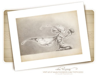 A limited edition ART PRINT (giclée) of Leahann'riada the forest faerie...by the Picsees
