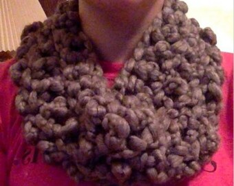 Handmade Chunky Crochet Infinity Cowl Scaf