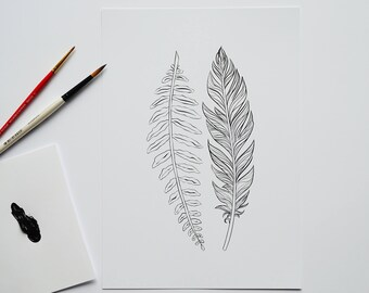 Fern and Feather -- Art Print