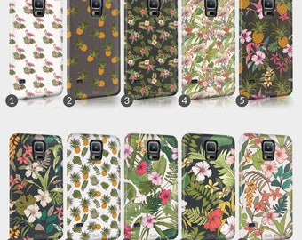 Tropical Flamingo Pineapple Floral Phone Case For HTC One Full Wrap Hard Cover Gift
