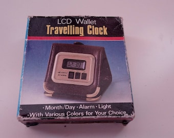 lcd Wallet Travelling clock 1980+ box