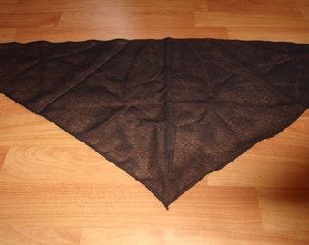 vintage ladies head neck scarf black triangle