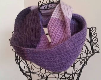 Shades of purple infinity scarf/cowl