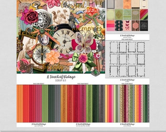 A Touch of Vintage - Beautifully Coloured [Digital Scrap Bundle]