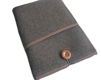 """iPad Pro 12.9 sleeve, iPad Pro 12.9 case, iPad 12,9"""" Sleeve, iPad Pro cover , Linen case ipad, Padded case for iPad Pro 12,9"""" for him"""
