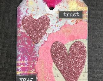 Handmade Heart Tag