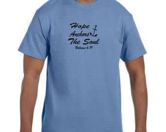 Christian Religous Tshirt Hope Anchors My Soul model xx10174