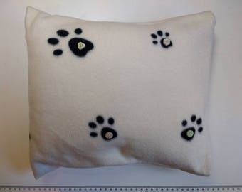 Paw Print Cushion