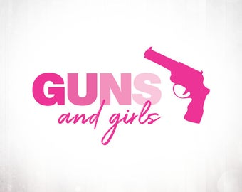 Premade Logo Design • Guns and Girls