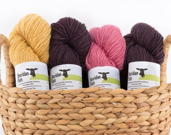 Wool Yarn by Tiny - Worsted Weight 2 Ply Border Leicester