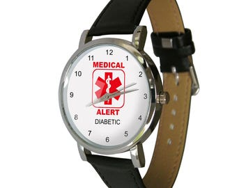 Medical Alert Watch - Diabetic. Medical alert medication. Adult Size