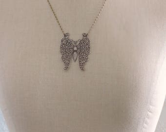 Vintage Jewelry - Vintage Necklace - Art Nouveau Necklace - Butterfly Necklace - French Necklace - Chloes Vintage - handmade jewelry
