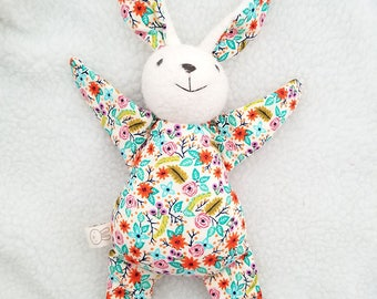 flower bunny rabbit toy, rag doll, stuffed animal, baby shower gift
