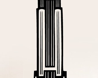 Vinyl Wall Art Decal Sticker Empire State Building NYC 163