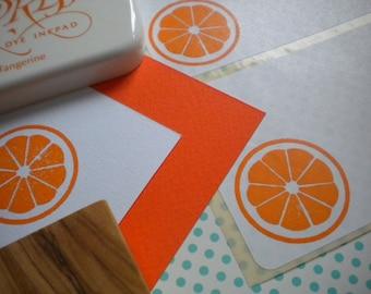 Orange Slice Olive Wood Stamp
