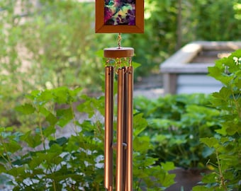 Wind Chime Bright Reverse Alcohol Ink Outdoor Large Wind Chime