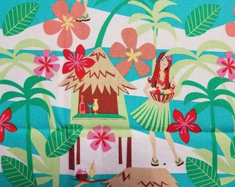 Michael Miller Cotton Fabric by the Yard - Hula Hut (discontinued)