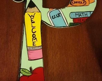 Personalized Teacher Door Hanger