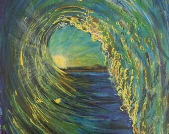 "Ocean Wave Art Print 8"" x 10"""