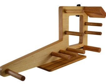 Mini Inkle Weaving Loom - Small Inkle Loom Belt Loom With Double Tension System for Belt Weaving Card Weaving Tablet Weaving Tools - Maple