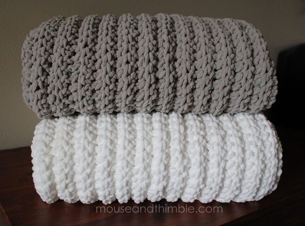 Extra Large Bulky Fleece Fisherman Blanket Crochet Pattern