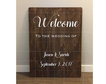 Wedding welcome sign wedding wooden signs wedding signs rustic wedding signs welcome to the wedding of sign