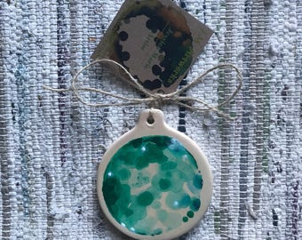 Single Emerald Luna Ornament