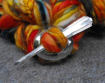 Spoon Shawl Pin, Shawl Pins, 1933 Simplicity Silver Plate Soup Spoon, Nostalgic Shawl Pins,