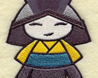Stunning Samurai Embroidered Flour Sack Hand/Dish Towel