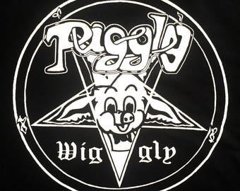 Death Metal, Black Metal, Heavy Metal, Metal T Shirt, Venom, Celtic Frost, Slayer, Metallica, Piggly Wiggly, Piggy, Parody T Shirt, Crapco