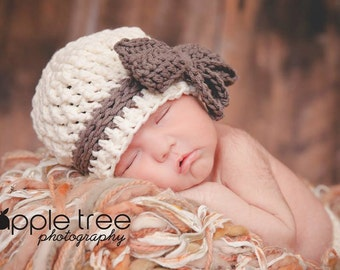 Crochet Pattern for Willow Beanie Hat - 6 sizes, Newborn to large adult - Welcome to sell finished items