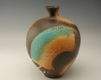 Decorative vase with brushed glaze , ceramic flower vase, vase for flowers, decorative vase, contemporary design, handmade, potterybyshikha