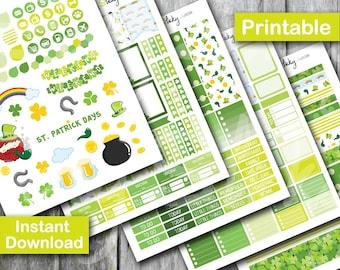 St Patrick Planner Sticker, Printable Sticker, Erin Condren Planner Sticker,